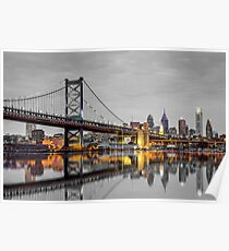 Philadelphia Touch of Color Skyline Poster