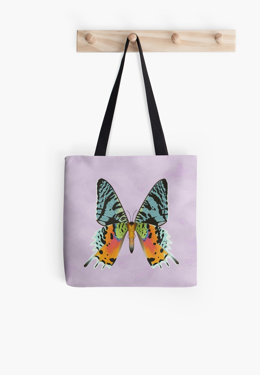 Madagascan Sunset Moth Tote Bag