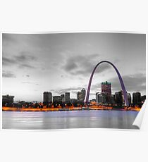 St. Louis Touch of Color Skyline Poster
