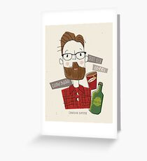 Canadian Hipster Greeting Card