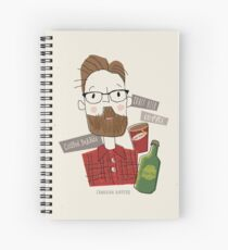 Canadian Hipster Spiral Notebook