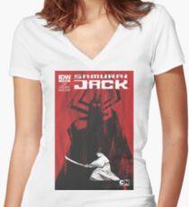 samurai jak yo Women's Fitted V-Neck T-Shirt