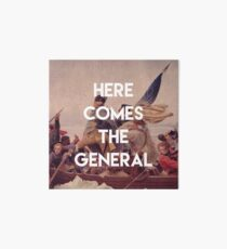 Here Comes the General - George Washington Art Board