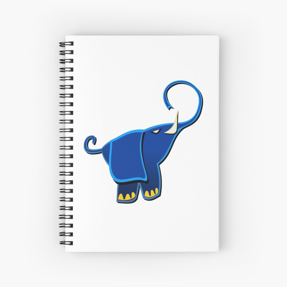Cuaderno De Espiral Cute Funny Elephant Dibujo Animado De