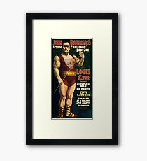 Antique Advertisement Poster - Louis Cyr, Strongest Man on Earth (1898) Framed Print