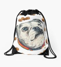 Olive and Snacks Drawstring Bag