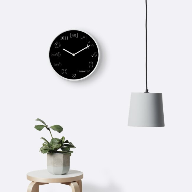 Mathematical Clock by coffeeandspace