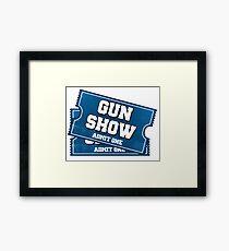 Gun Show Tickets Framed Print