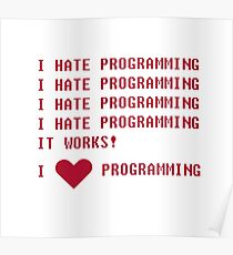 I HATE PROGRAMMING Poster