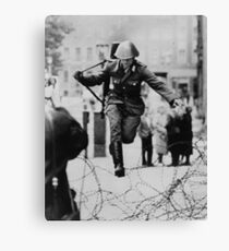 Leap to Freedom (East German Soldier) Canvas Print