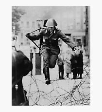Leap to Freedom (East German Soldier) Photographic Print