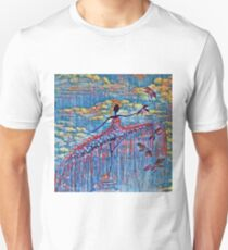 DANCER AND DRAGONFLY 19 Unisex T-Shirt