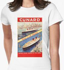 Cunard Vintage Travel Poster Restored T-Shirt