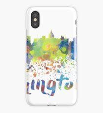 Washington DC Water Color Skyline iPhone Case/Skin