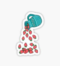 Strawberrys Jar Sticker