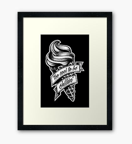 Too Cool... black and white Framed Print
