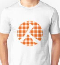 Plaid Persimmon Orange Person Unisex T-Shirt