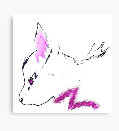 Feline Forensics Furry Fuscia Canvas Print