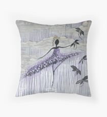 DANCER AND DRAGONFLIES 13 Throw Pillow