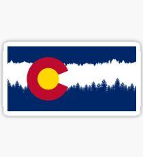 Colorado Flag Treeline Silhouette Sticker