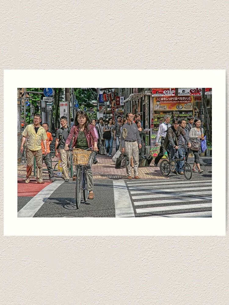 Alternate view of Tokyo  - Street scene by day Art Print