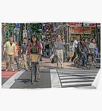 Tokyo  - Street scene by day Poster
