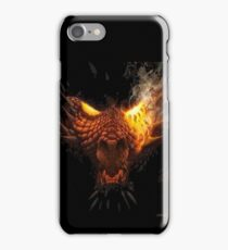 The head of a Red Dragon ready to pounce iPhone Case/Skin