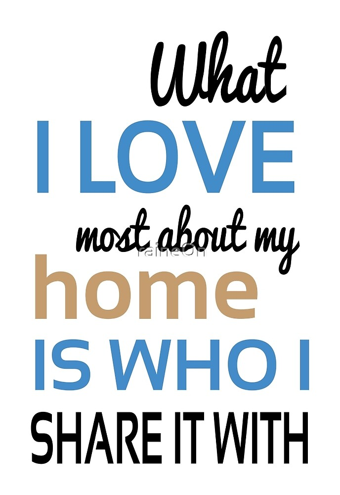 What I Love Most About My Home  by raineOn