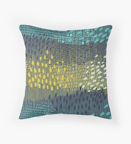 Cosmic Particles by Friztin Throw Pillow