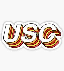 USC Retro layers Sticker