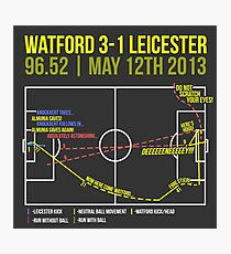 Troy Deeney Goal: Watford 3-1 Leicester 2013 Photographic Print