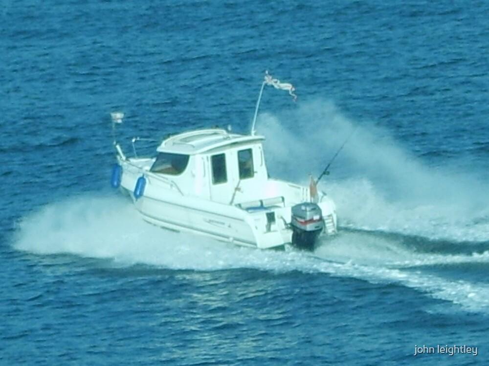 boat in motion by john leightley