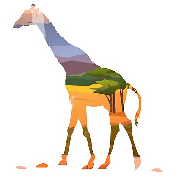 Giraffe Wandering in Forest : Into the Wild by mellow-threads