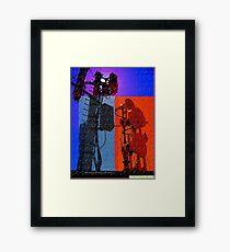 digital world multi-colored Framed Print