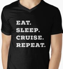 Eat, Sleep, Cruise, Repeat Cruise Ship Accessory  Men's V-Neck T-Shirt