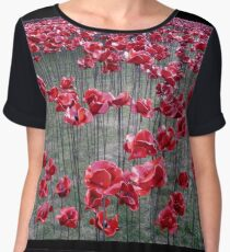 Poppies At The Tower Of London Chiffon Top
