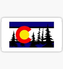 Colorado Tree Silhouette Sticker