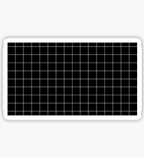 Black Checkers Sticker