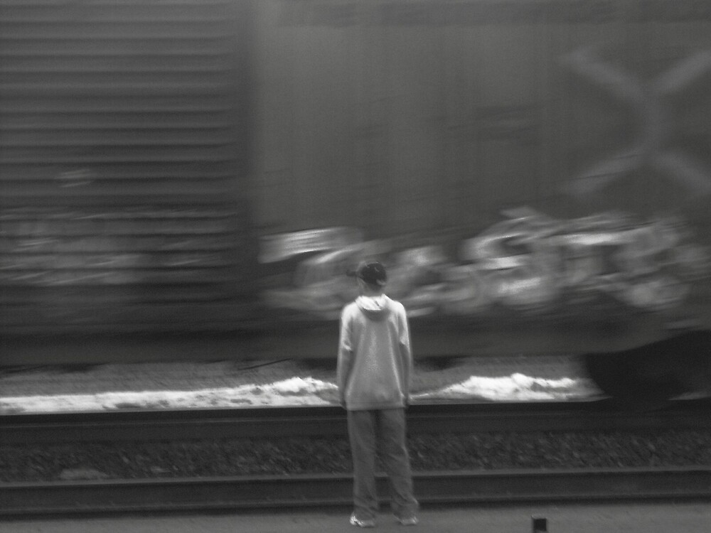 moving train by Jaclyn Clemens