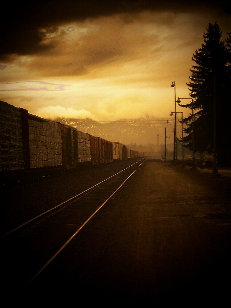 train get away in montana by Jaclyn Clemens