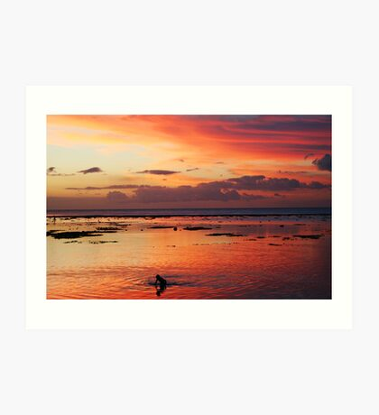 Under the fiery sky Art Print