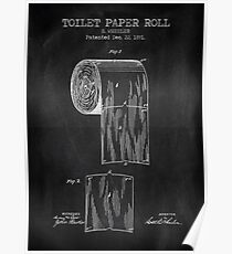 Toilet Paper Roll Chalkboard Poster