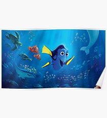 Finding nemo posters redbubble nemo and dory poster thecheapjerseys Images