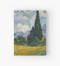 Wheat Field with Cypresses, Van Gogh Hardcover Journal