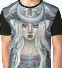 The Moon Tarot Card  Graphic T-Shirt