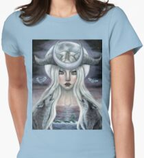 The Moon Tarot Card  Womens Fitted T-Shirt