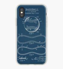 Baseball Blueprint iPhone Case
