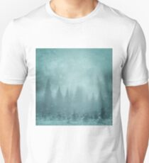 Snowy Winter Tree's - Ski Snowboard Christmas  Unisex T-Shirt