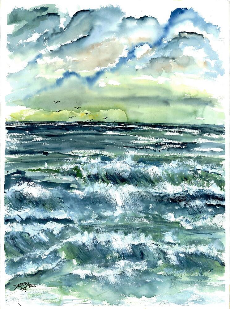 Waves fine art seascape poster print by derekmccrea