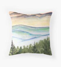 Blue Ridge Landscape Mountain Fine Art Print Throw Pillow
